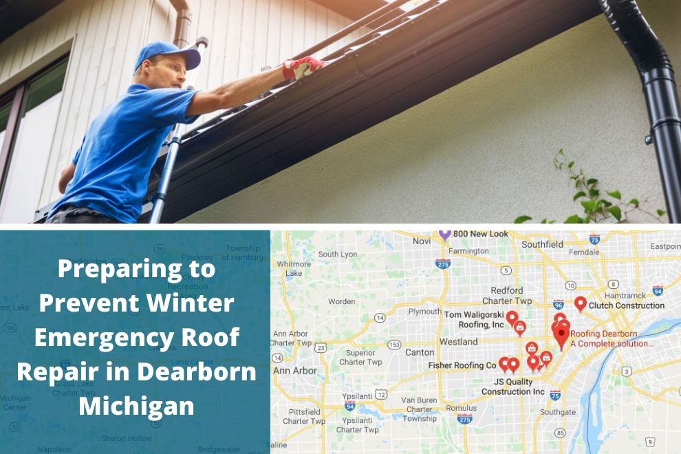 Preparing to Prevent Winter Emergency Roof Repair in Dearborn Michigan